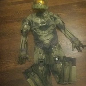 Other - Halo Muscle Costume Size 10-12 + Accessories